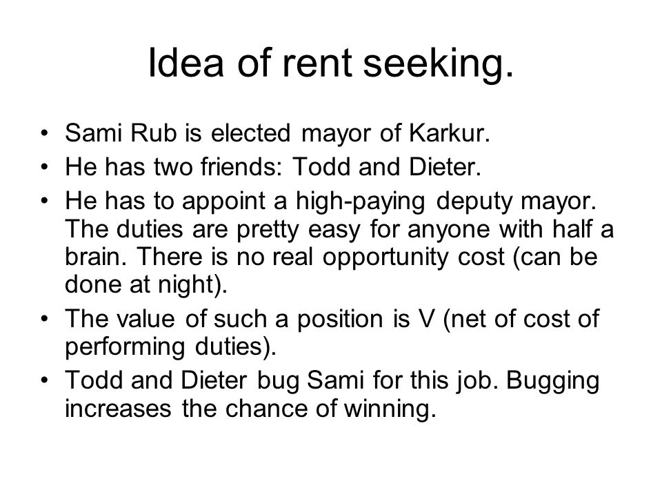 Idea of rent seeking. Sami Rub is elected mayor of Karkur.