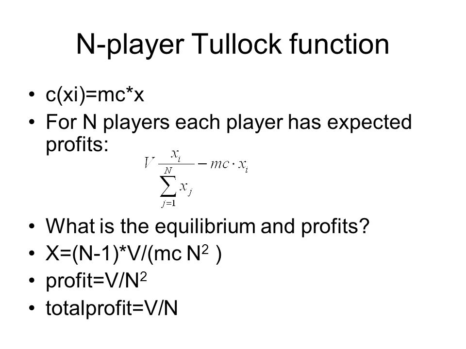 N-player Tullock function