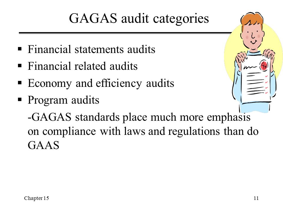 GAGAS audit categories