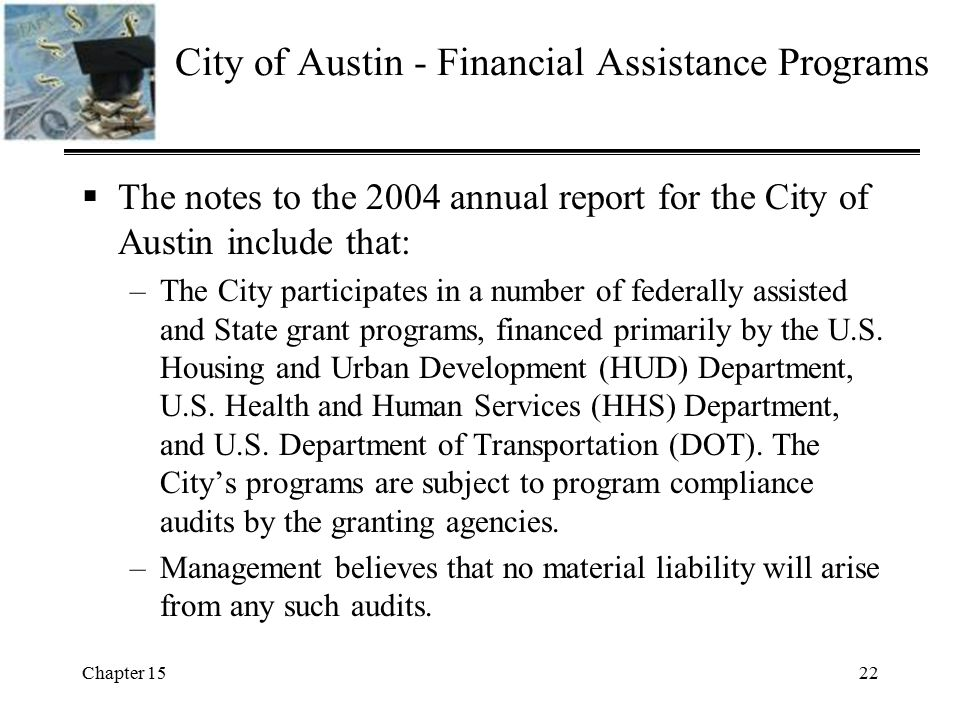 City of Austin - Financial Assistance Programs