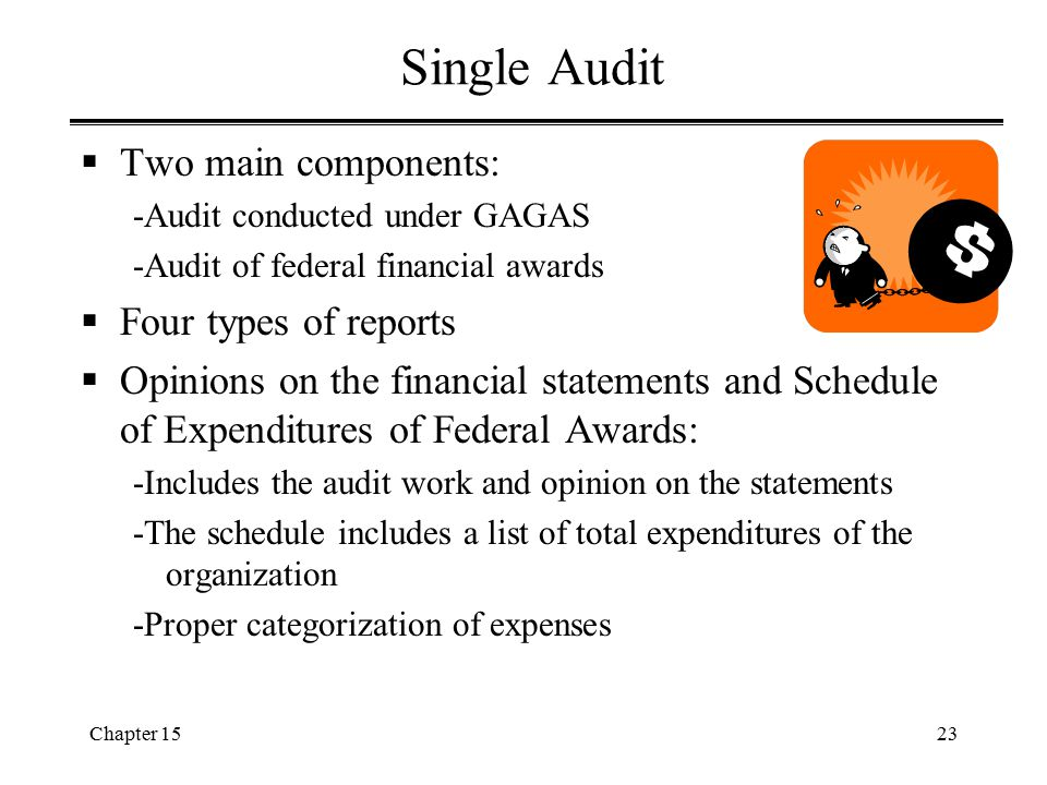 Single Audit Two main components: Four types of reports