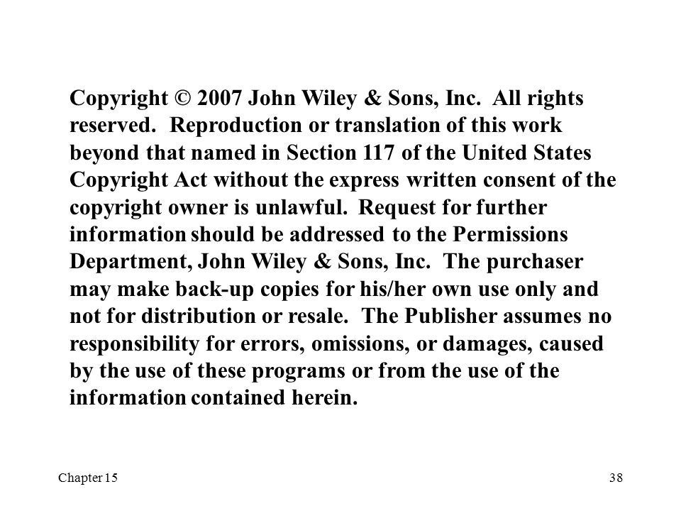Copyright © 2007 John Wiley & Sons, Inc. All rights reserved