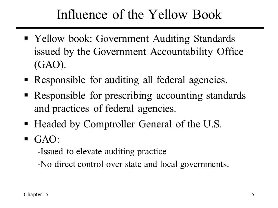 Influence of the Yellow Book