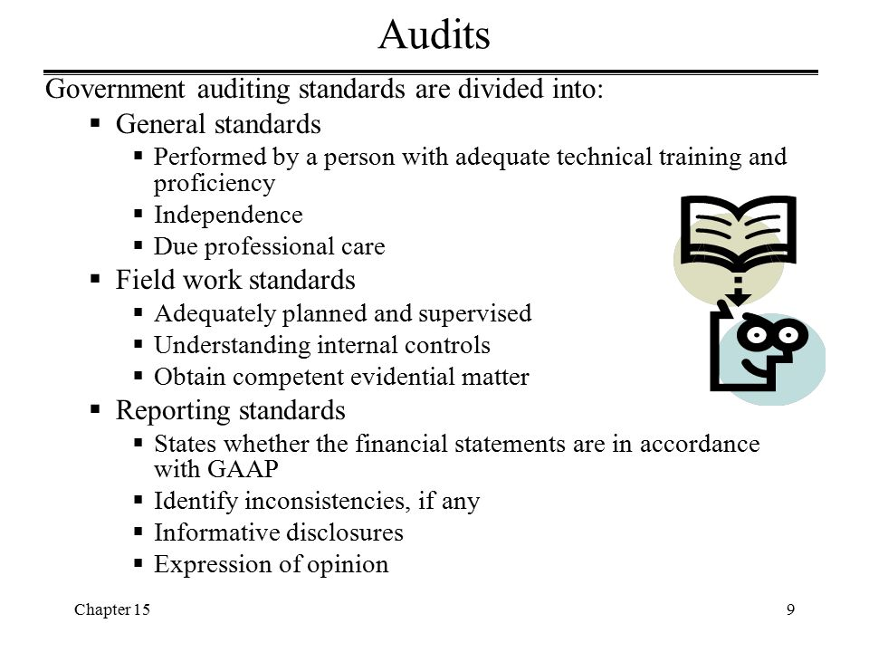Audits Government auditing standards are divided into: