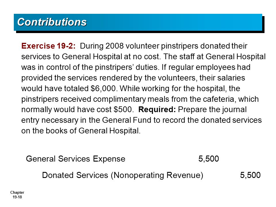 Contributions General Services Expense 5,500