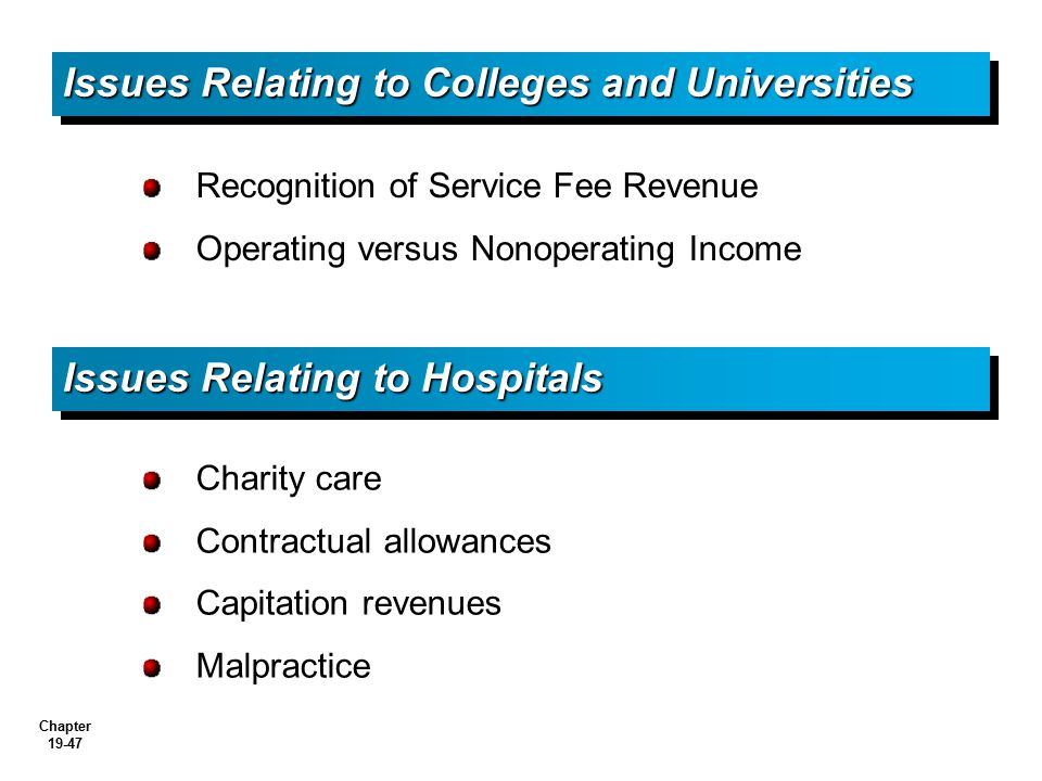 Issues Relating to Colleges and Universities