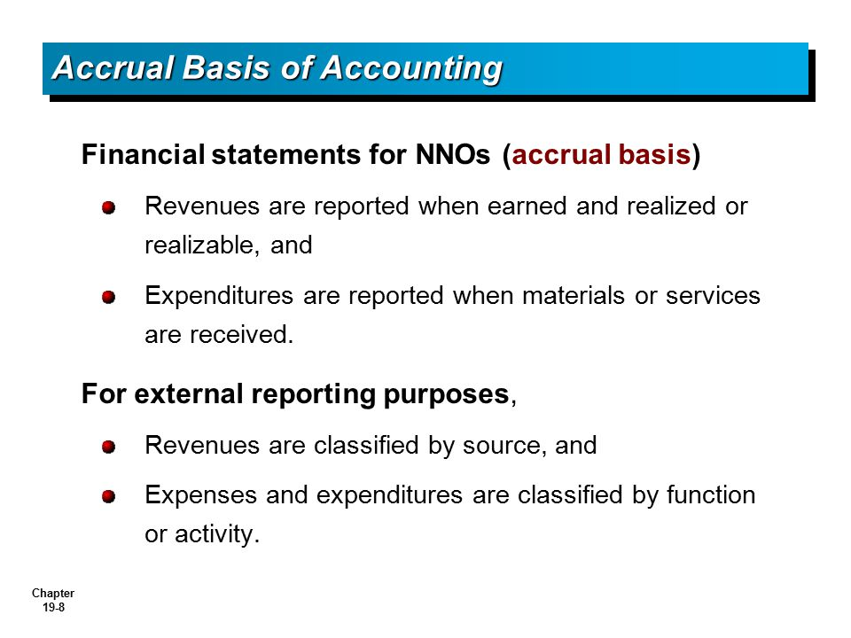 Accrual Basis of Accounting