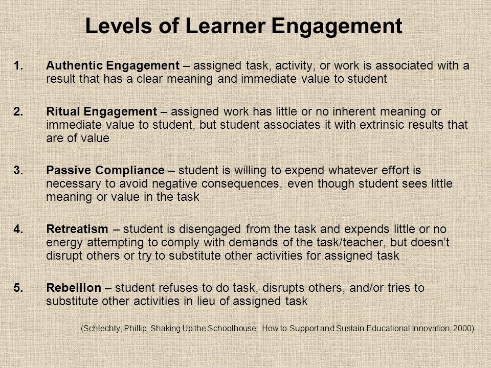 Levels of Learner Engagement