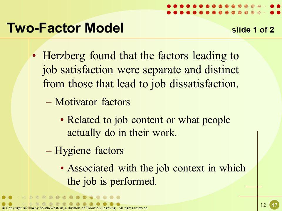 Two-Factor Model slide 1 of 2