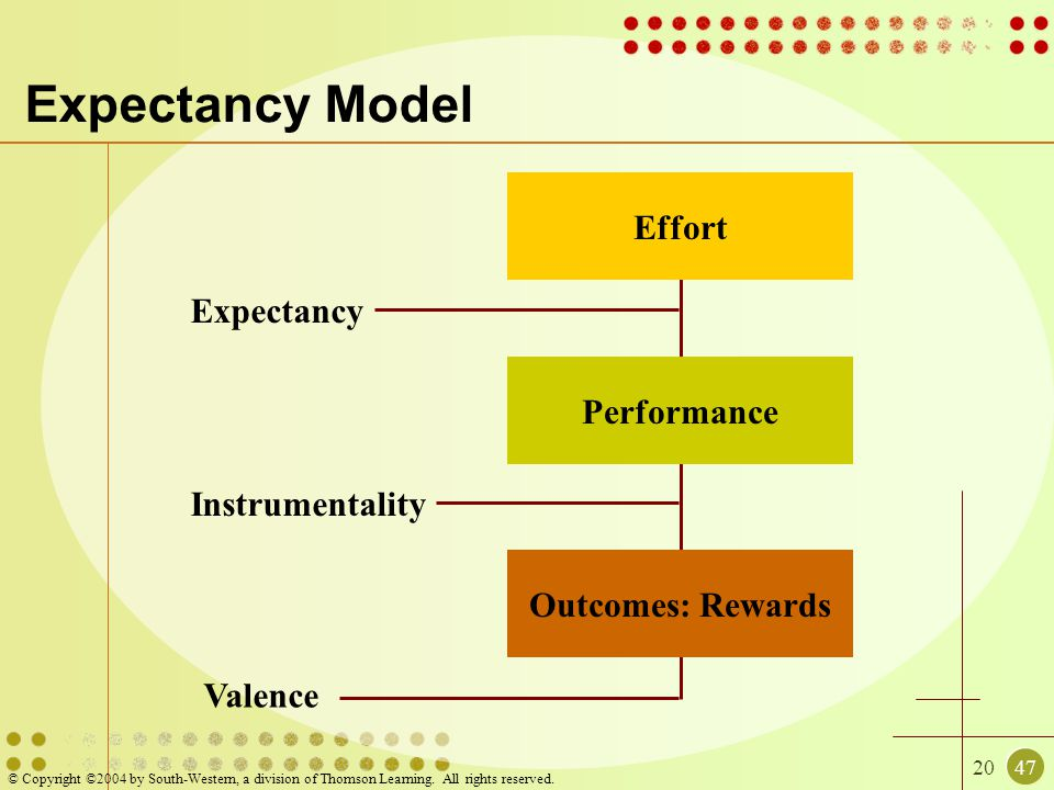 Expectancy Model Effort Expectancy Performance Instrumentality