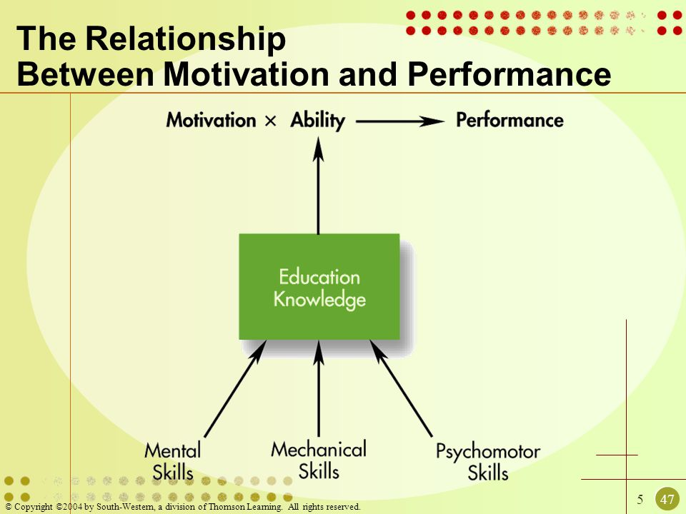 The Relationship Between Motivation and Performance