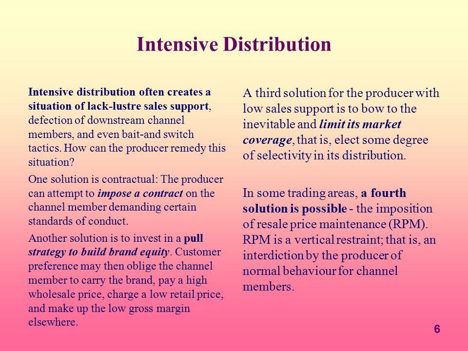 Intensive Distribution