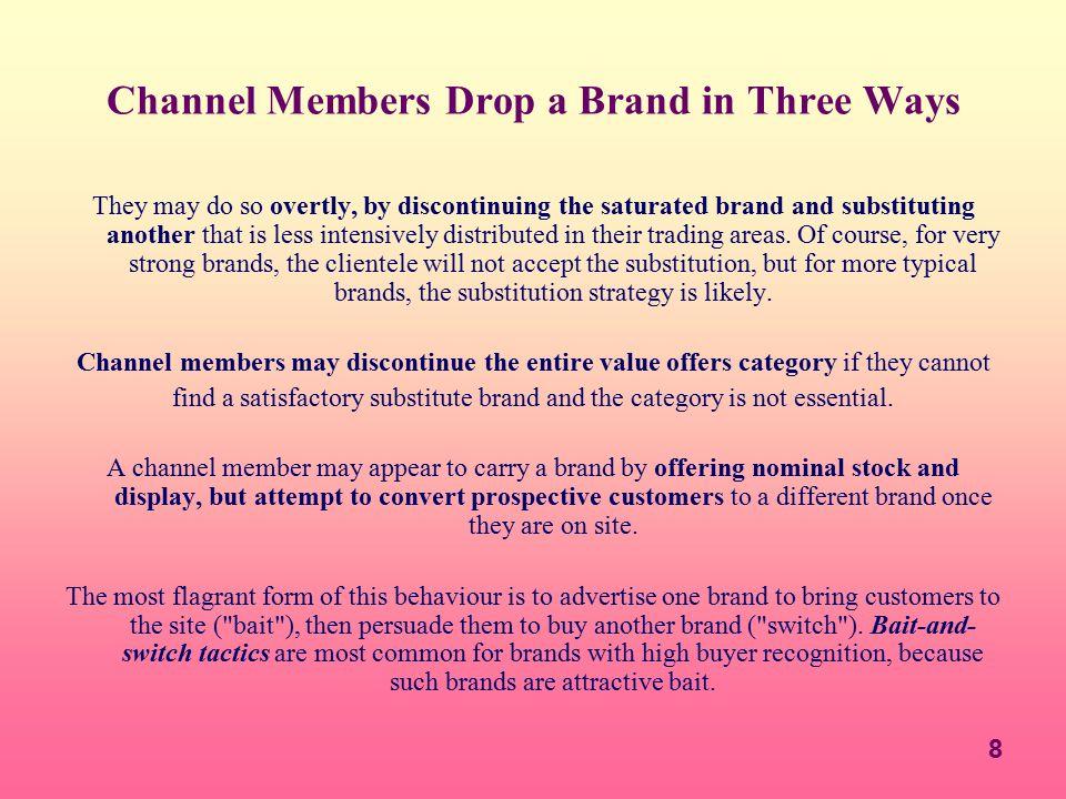Channel Members Drop a Brand in Three Ways