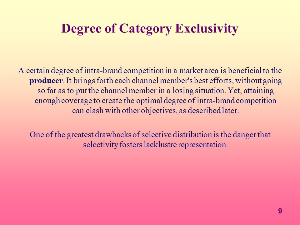Degree of Category Exclusivity