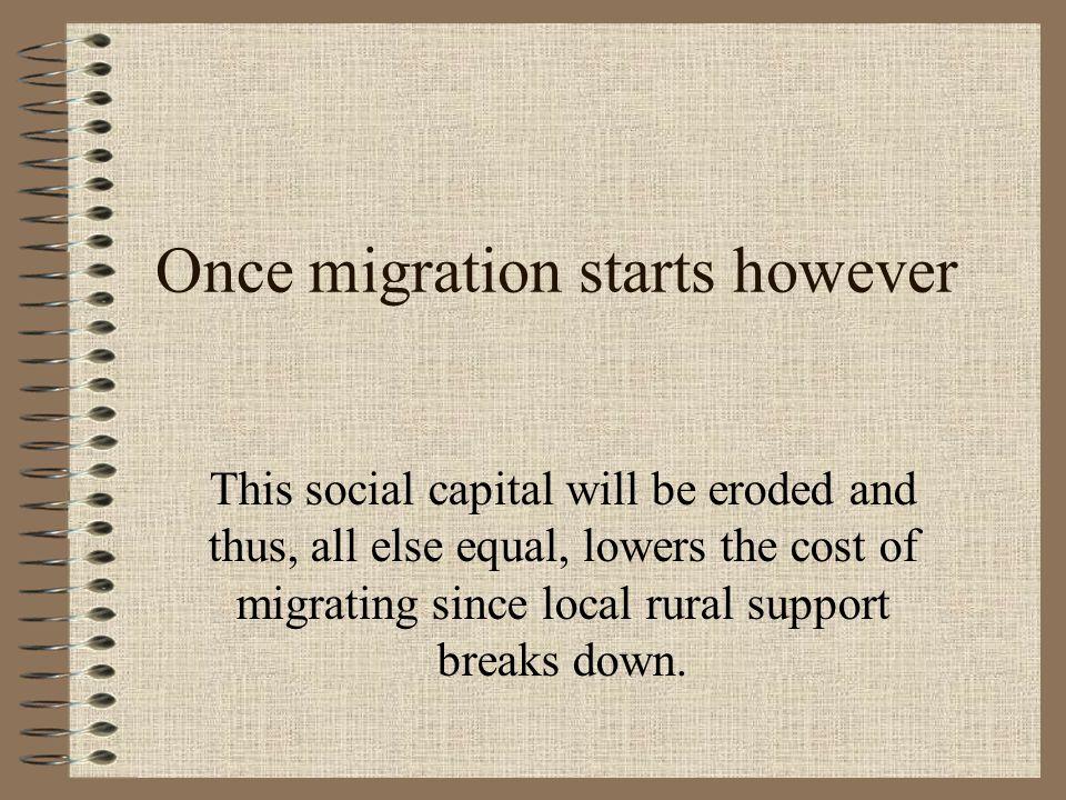 Once migration starts however