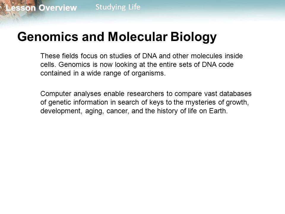 Genomics and Molecular Biology