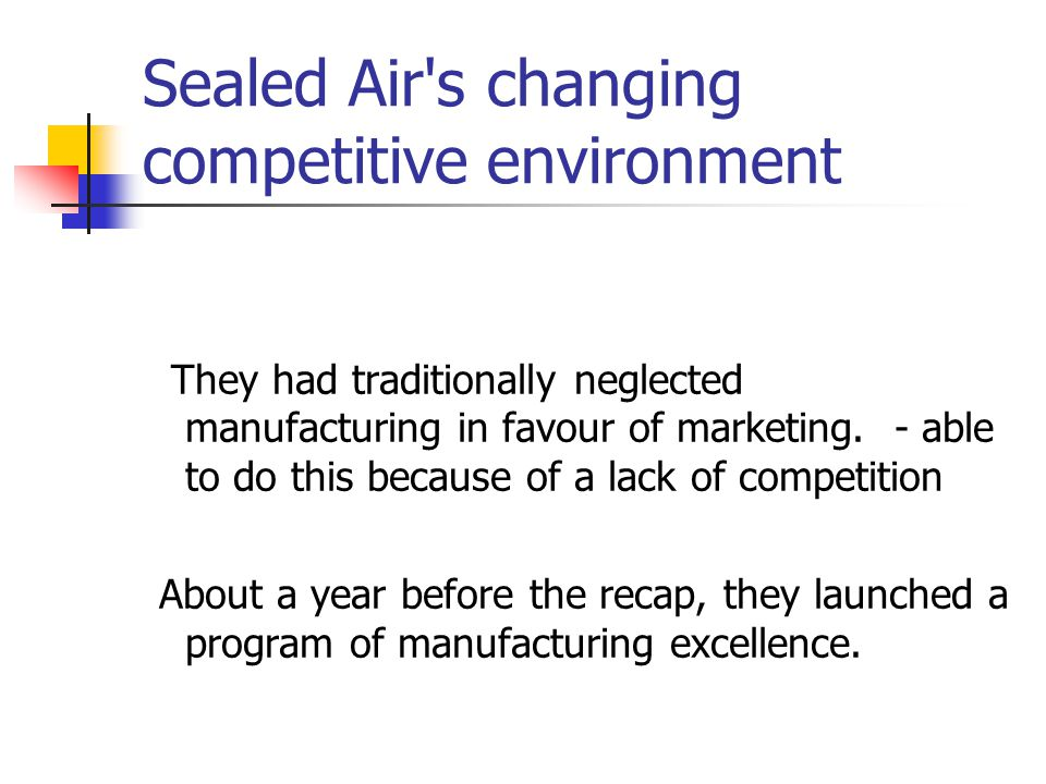 Sealed Air s changing competitive environment
