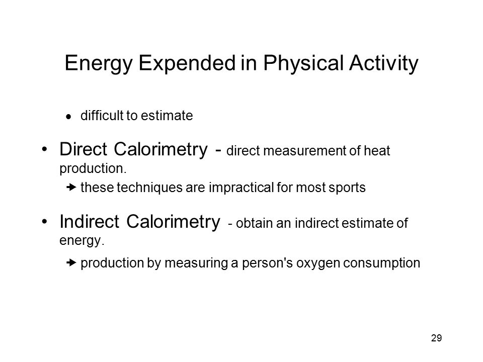 Energy Expended in Physical Activity