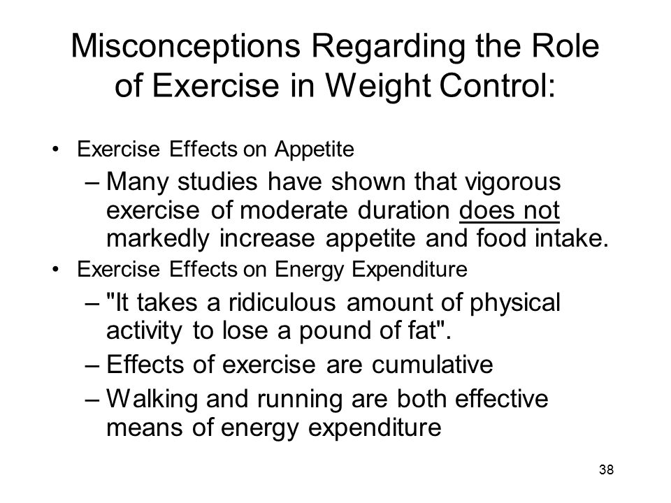 Misconceptions Regarding the Role of Exercise in Weight Control: