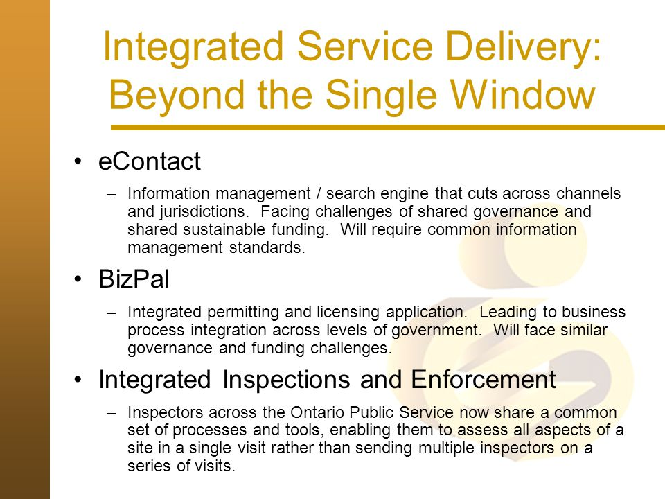 Integrated Service Delivery: Beyond the Single Window
