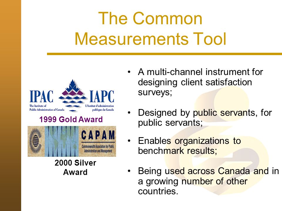 The Common Measurements Tool