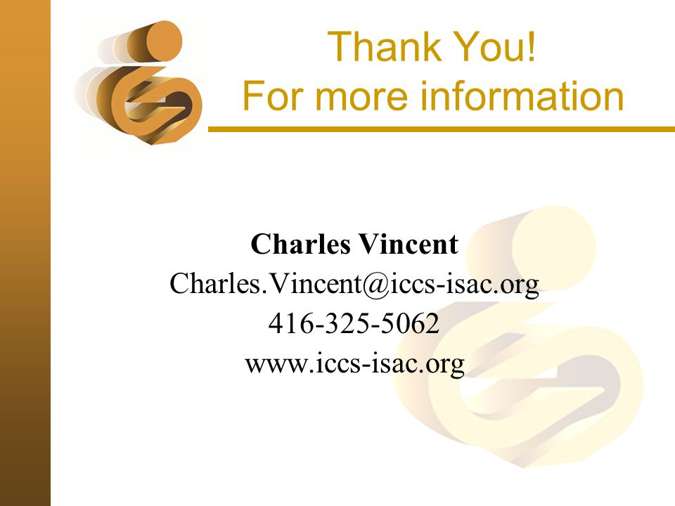 Thank You! For more information