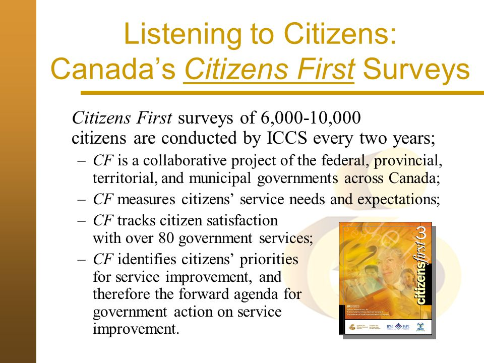 Listening to Citizens: Canada's Citizens First Surveys