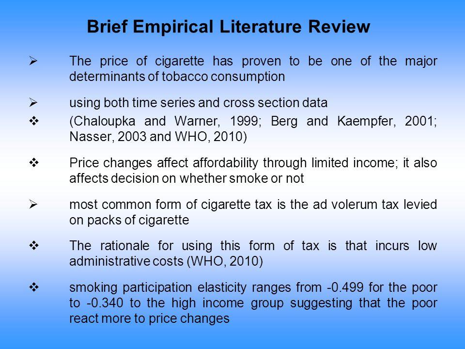 Brief Empirical Literature Review