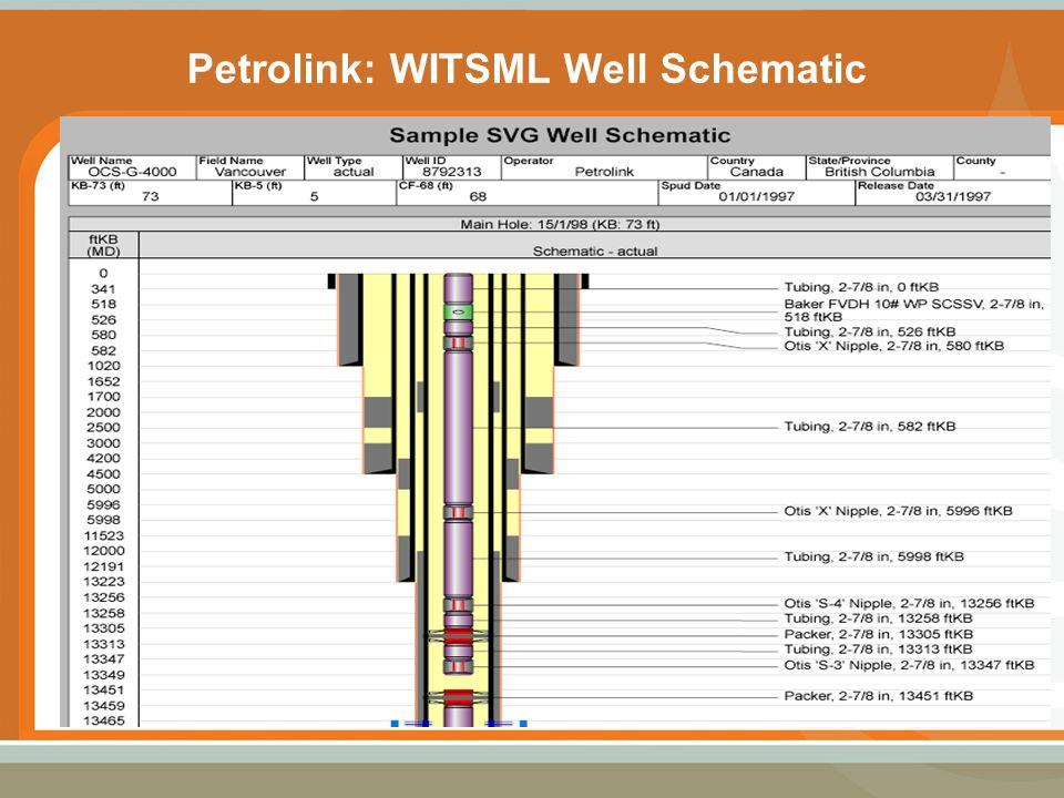 Petrolink: WITSML Well Schematic