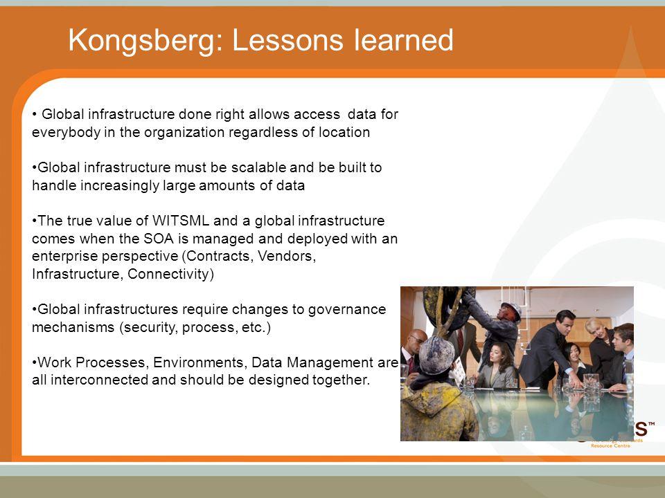 Kongsberg: Lessons learned