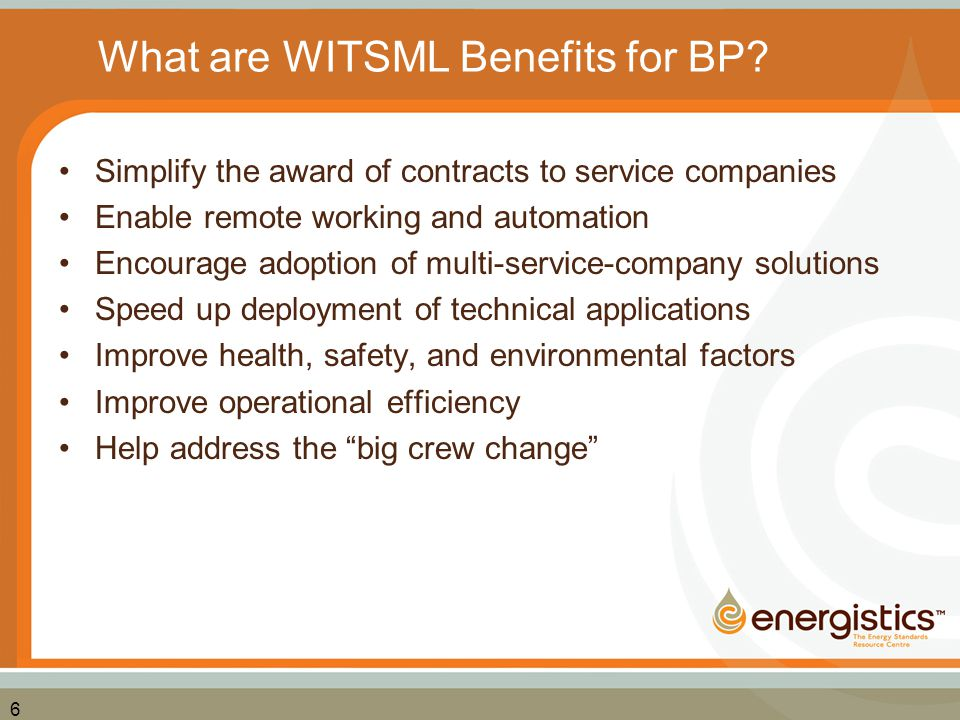 What are WITSML Benefits for BP