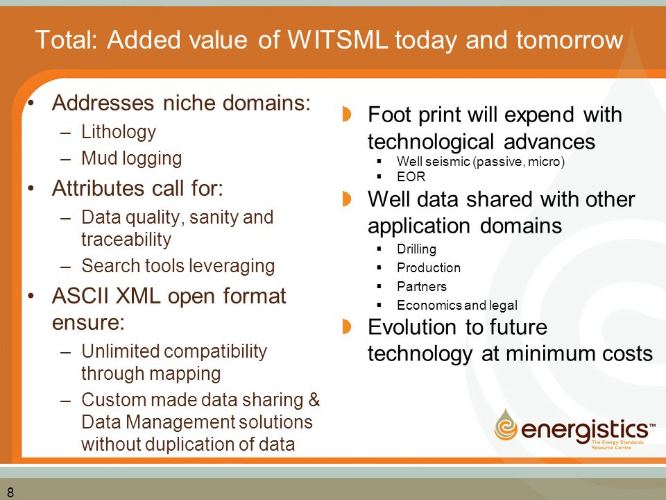 Total: Added value of WITSML today and tomorrow