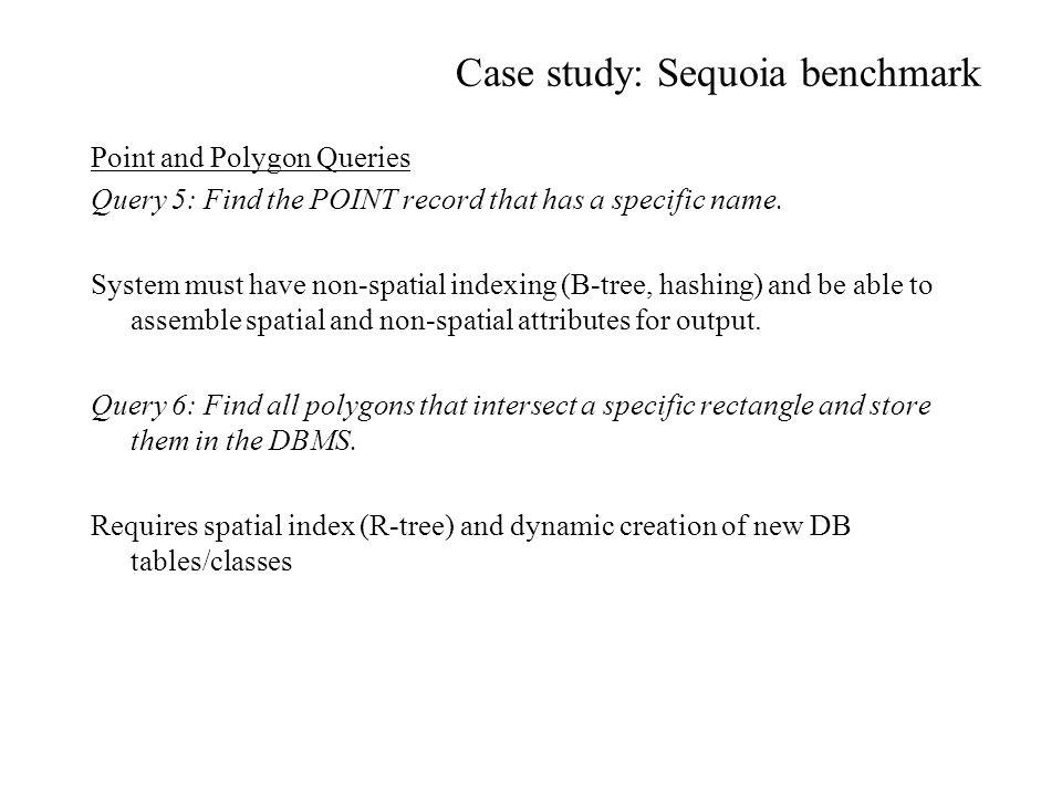 Case study: Sequoia benchmark