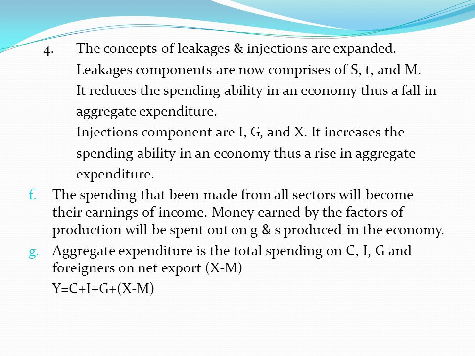 4. The concepts of leakages & injections are expanded.