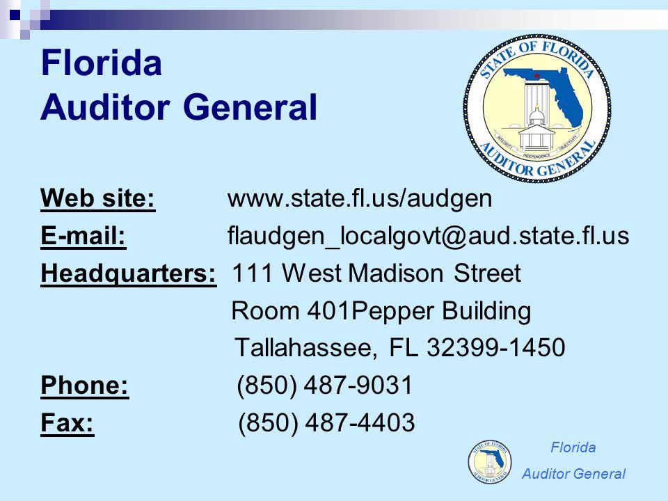 Florida Auditor General