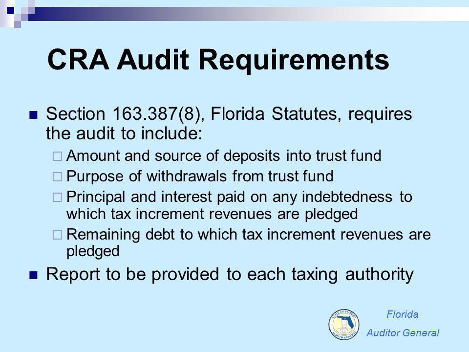 CRA Audit Requirements