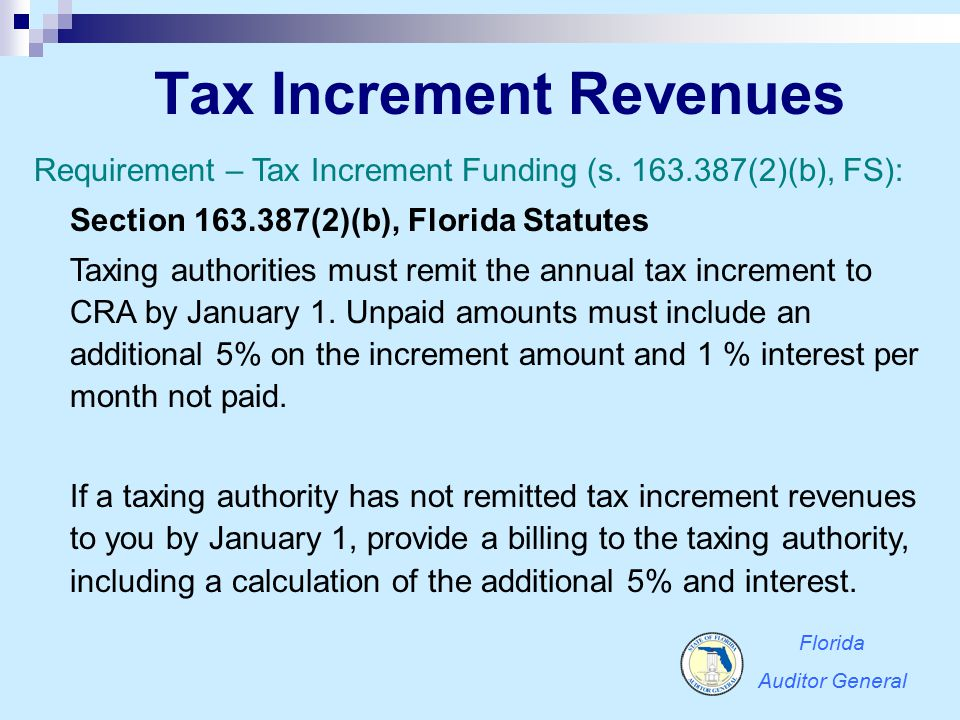 Tax Increment Revenues