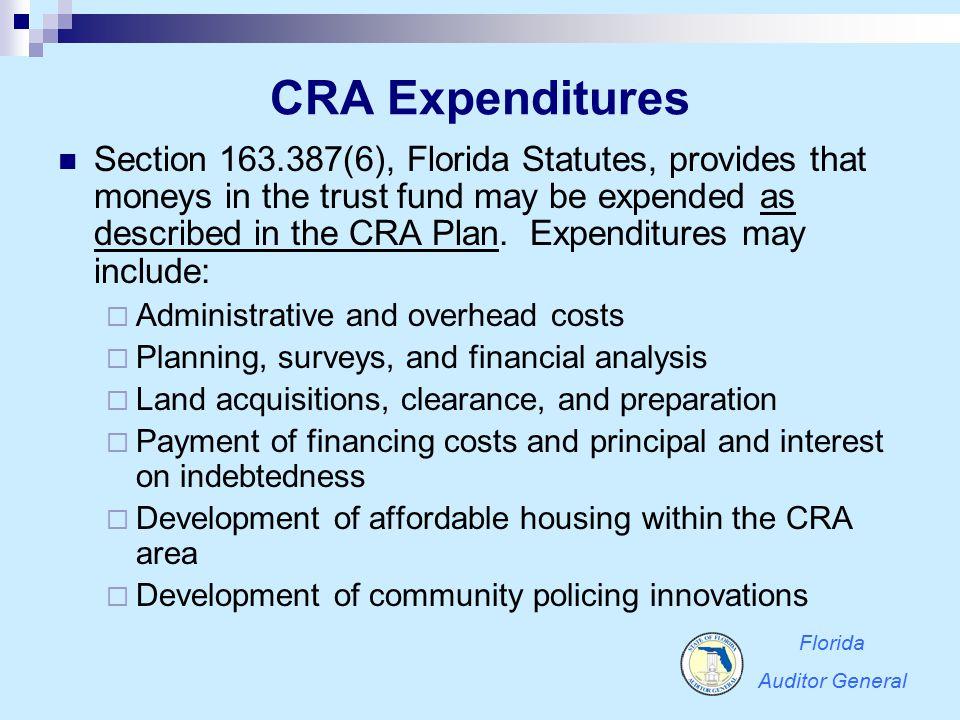 CRA Expenditures