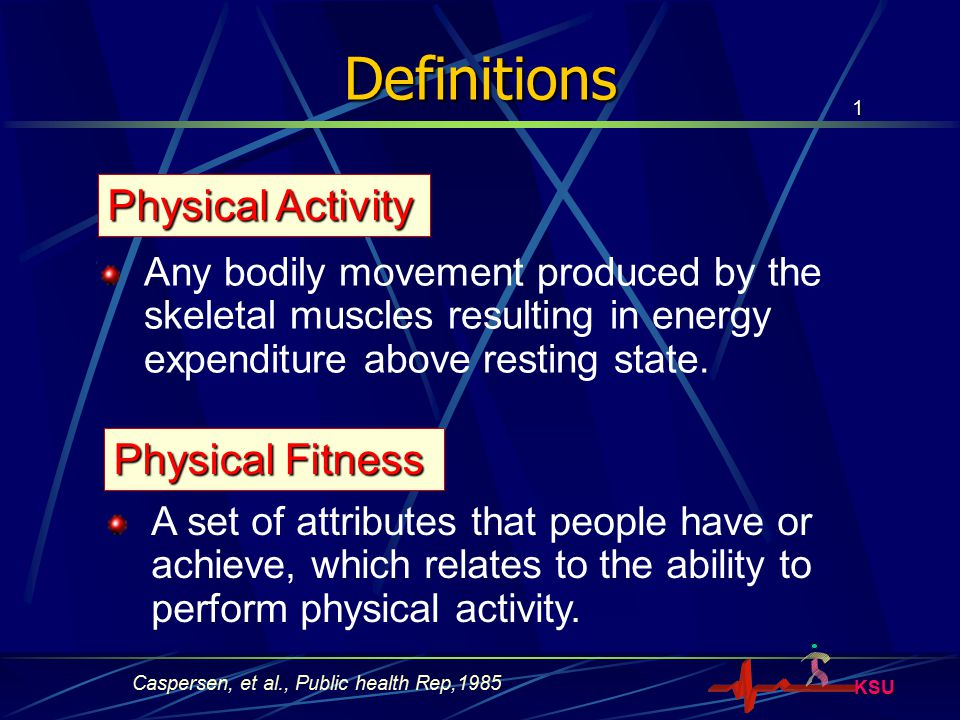 Definitions Physical Activity Physical Fitness