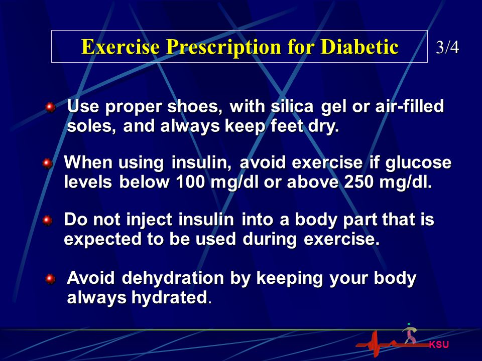 Exercise Prescription for Diabetic