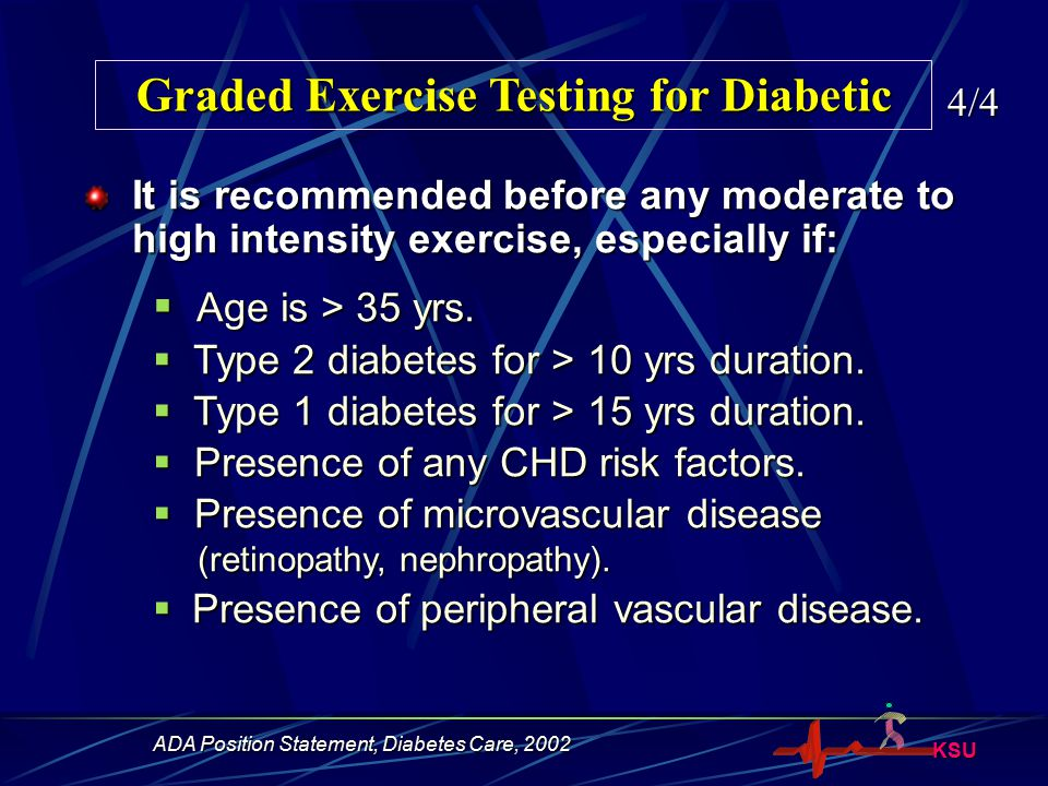 Graded Exercise Testing for Diabetic