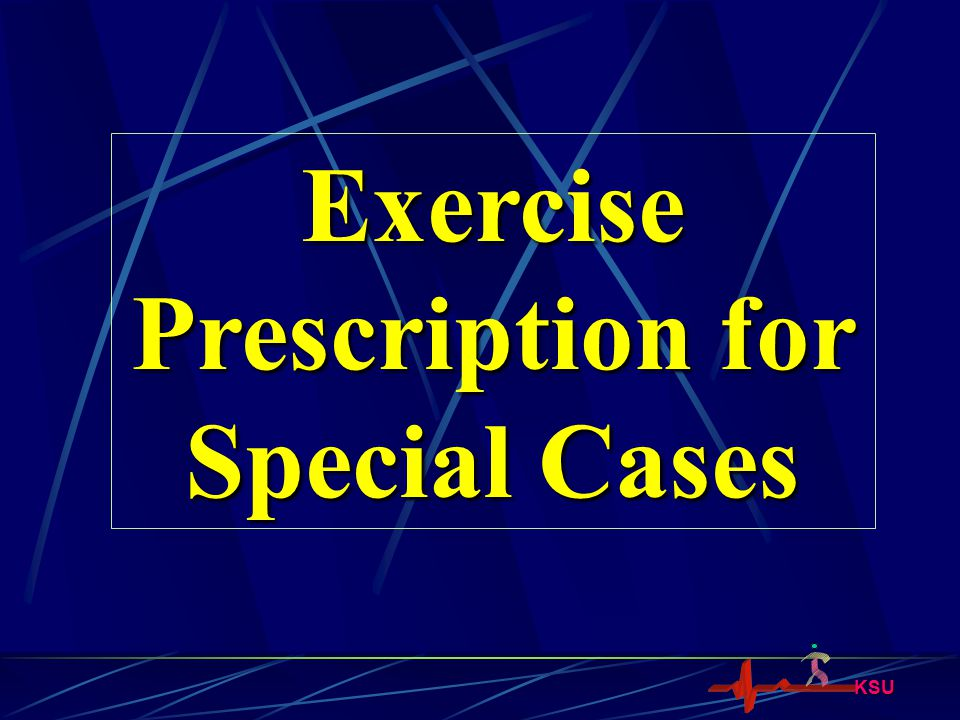 Prescription for Special Cases