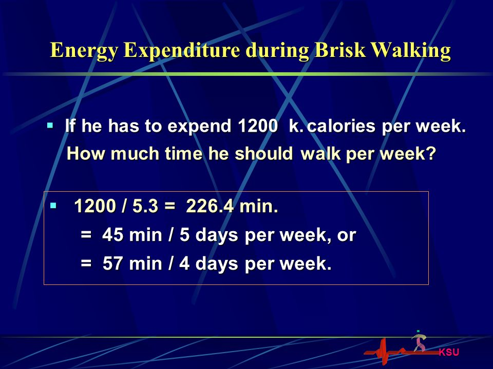 Energy Expenditure during Brisk Walking
