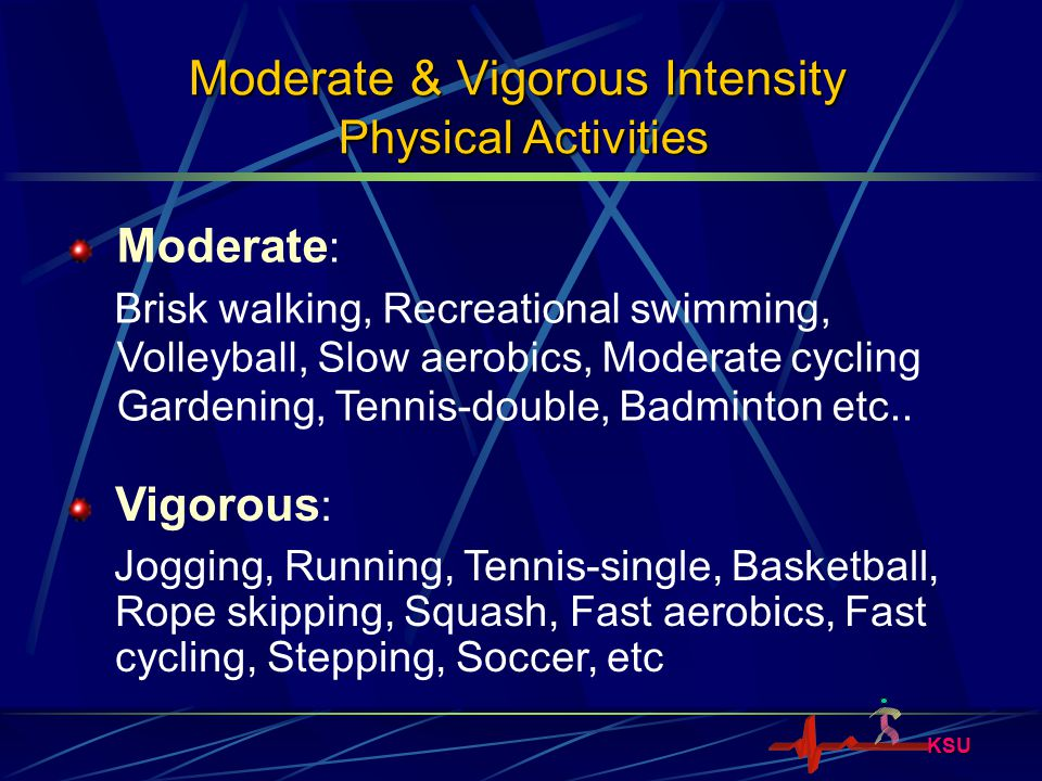 Moderate & Vigorous Intensity Physical Activities