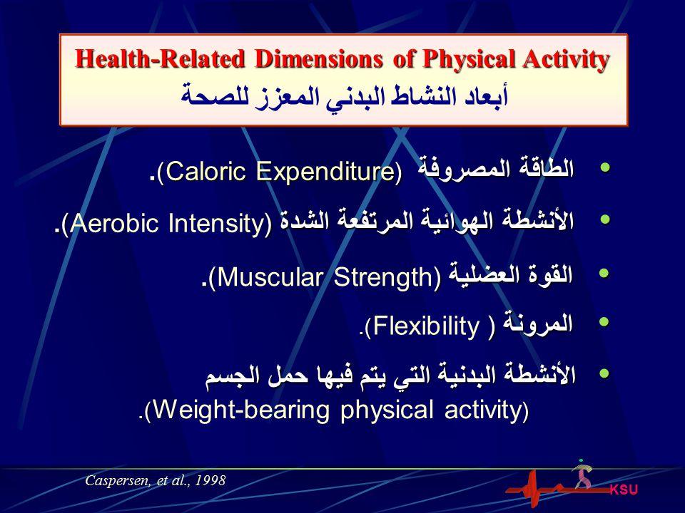 أبعاد النشاط البدني المعزز للصحة