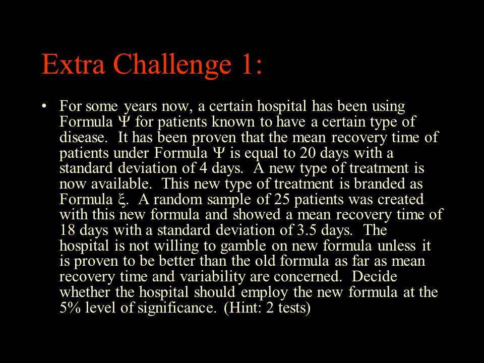 Extra Challenge 1: