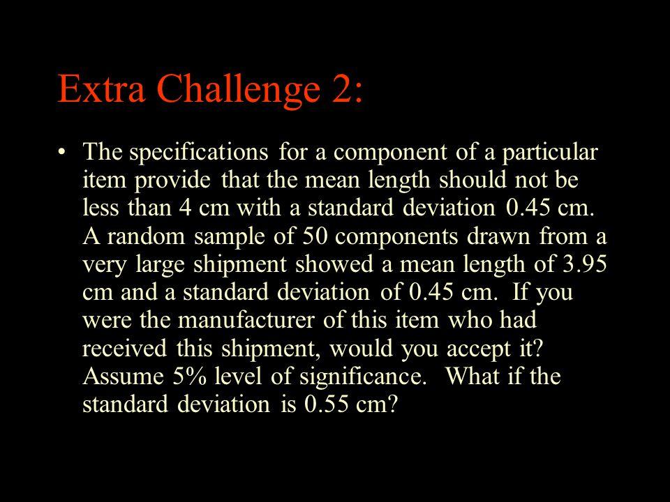 Extra Challenge 2:
