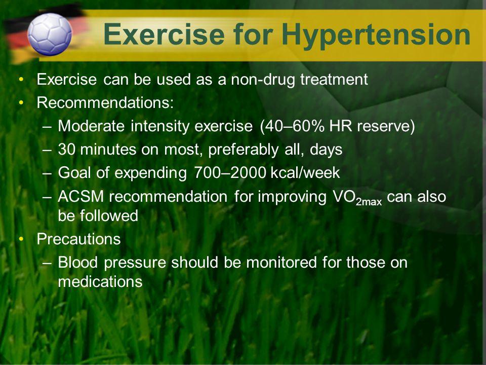 Exercise for Hypertension