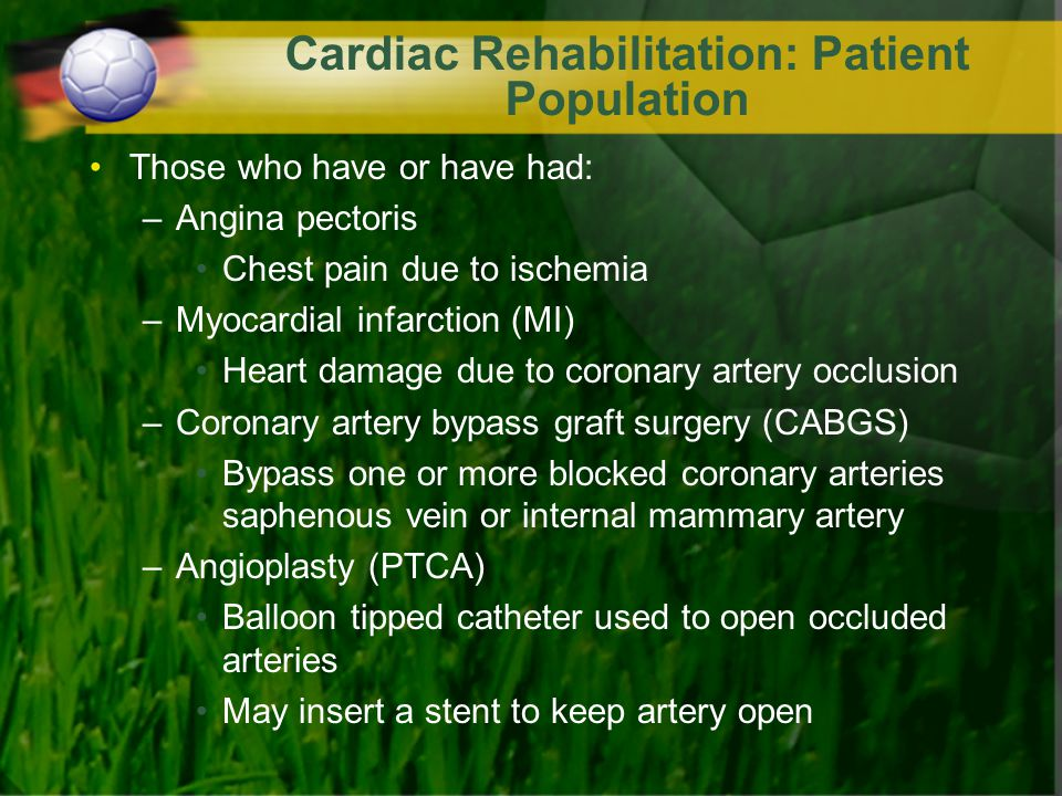 Cardiac Rehabilitation: Patient Population