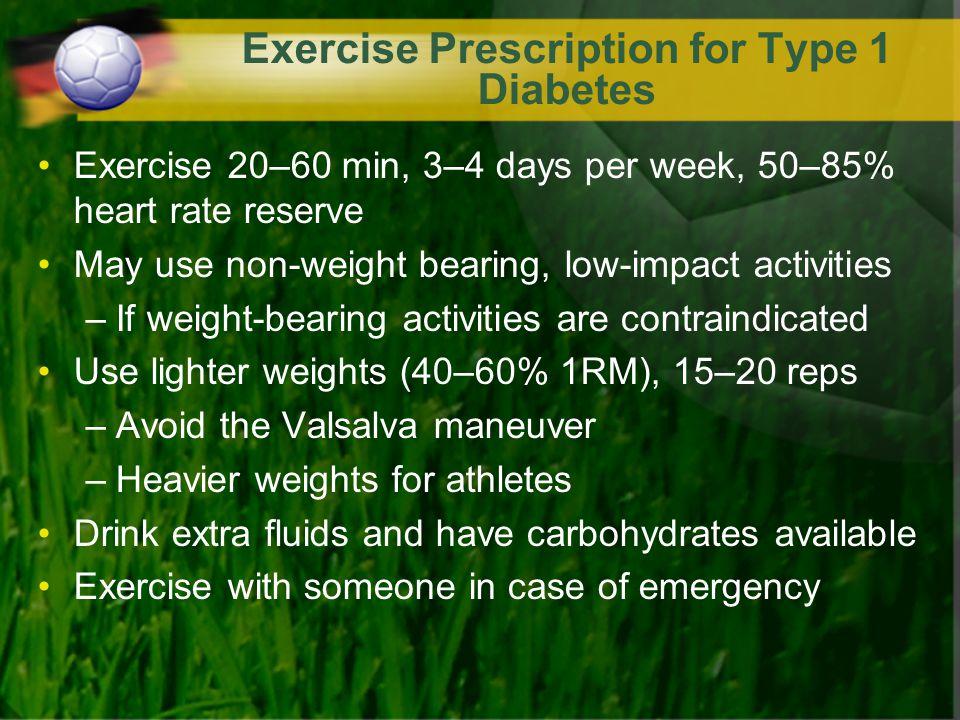 Exercise Prescription for Type 1 Diabetes